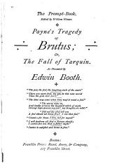 Payne's Tragedy of Brutus, Or, The Fall of Tarquin