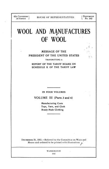 Wool and Manufactures of Wool PDF