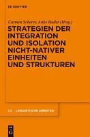Strategien der Integration und Isolation nicht nativer Einheiten und Strukturen PDF