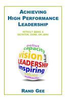 Achieving High Performance Leadership PDF