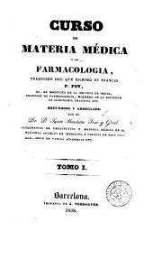 Curso de materia médica ó de farmacologia, 1