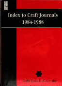 Index to Craft Journals, 1984-1988: Authors