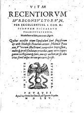 Vitae recentiorum iureconsultorum