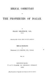 Biblical Commentary on the Prophecies of Isaiah: Volume 2
