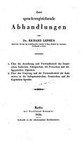 Zwei sprachvergleichende Abhandlungen PDF