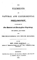 The Elements of Natural and Experimental Philosophy  Etc   With Plates   PDF