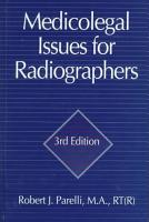 Medicolegal Issues for Diagnostic Imaging Professionals  Fourth Edition PDF