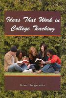 Ideas That Work in College Teaching PDF