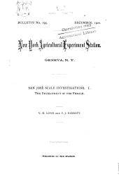 San José scale investigations, I