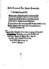 Summule philosophie rationalis seu logica excellentissimi artium et theologie professoris magistri Nicolai Dorbelli: sm doctrinam doctoris subtilis Scoti