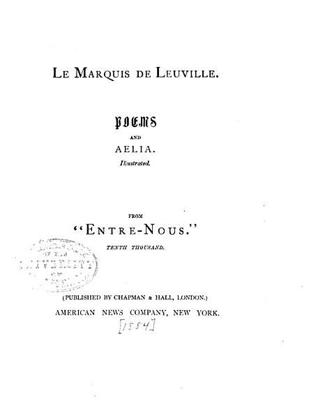 Download Le Marquis de Leuville Book