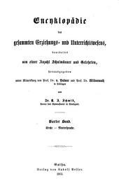Encyklopädie des gesammten Erziehungs- und Unterrichtswesens: Kirche - Muttersprache, Band 4