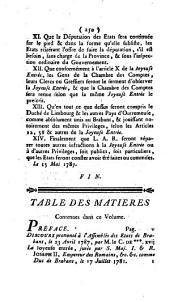 Recueil des représentations, protestations et réclamations faites à S.M.I. par les représentans des états des provinces des Pay-Bas autrichiens [by F. X. de Feller].