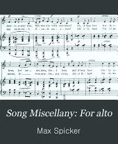 Song Miscellany: For alto