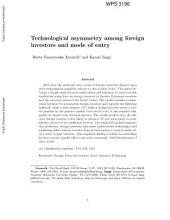 Technological Asymmetry Among Foreign Investors and Mode of Entry