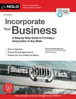 Incorporate Your Business  A Step By Step Guide to Forming a Corporation in Any State PDF