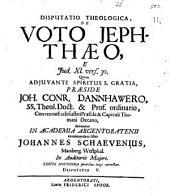 De voto Jephthaeo