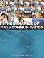 Dynamics of Mass Communication  Media in Transition PDF