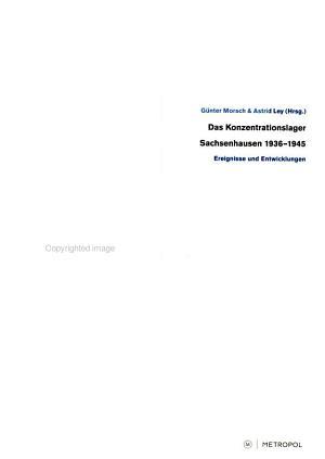 Das Konzentrationslager Sachsenhausen 1936   1945 PDF