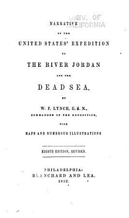 Narrative of the United States  Expedition to the River Jordan and the Dead Sea PDF