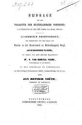 Bijdrage tot het vraagstuk der buitenlandsche vonnissen: aanteekening op art. 431 wetboek van burg. regtsv