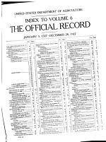 The Official Record of the United States Department of Agriculture