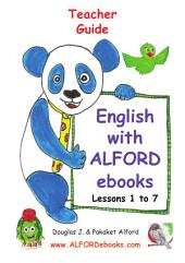 English - Teacher Guide with ALFORD ebooks: Lessons 1 to 7