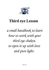 Open Your Third Eye Lesson: a little handbook for spiritual work