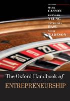 The Oxford Handbook of Entrepreneurship PDF