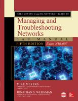 Mike Meyers    CompTIA Network  Guide to Managing and Troubleshooting Networks Lab Manual  Fifth Edition  Exam N10 007  PDF