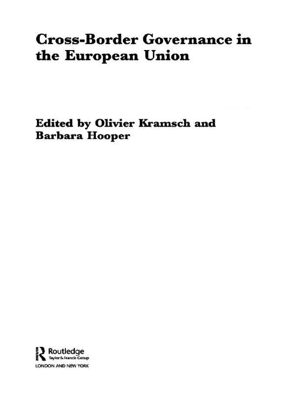 Cross-Border Governance in the European Union