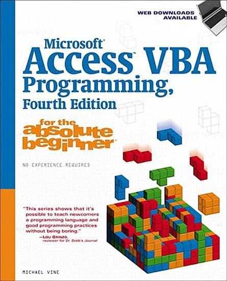Microsoft Access VBA Programming for the Absolute Beginner PDF