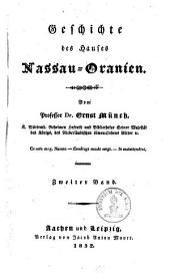 Geschichte des Hauses Nassau-Oranien: Band 2