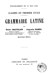 Grammaire latine: classes du premier cycle