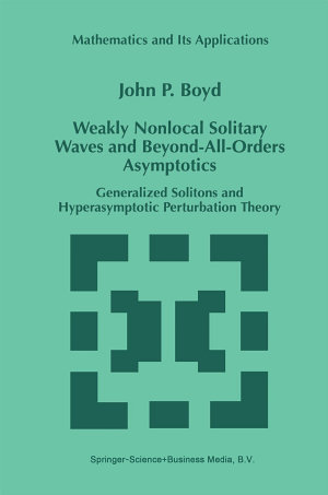 Weakly Nonlocal Solitary Waves and Beyond All Orders Asymptotics