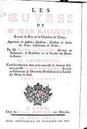 Les oeuvres de Me. Jean Bacquet: Volume2