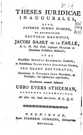 Theses juridicae inaugurales