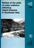 Review of the State of Water Pollution Affecting Inland Fisheries in Southeast Asia PDF