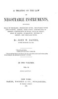 A Treatise on the Law of Negotiable Instruments PDF