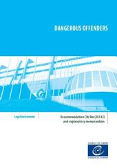 Dangerous offenders - Recommendation CM/Rec(2014)3 and explanatory report