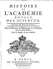 Histoire de l'Académie Royale des Sciences: avec les mémoires de mathématique et de physique pour la même année : tirés des registres de cette Académie. 1773 (1777)