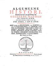 Algemeene histori van het begin der wereld af tot den tegenwoordigen tijd toe: Part 1; 2 sections, Volume 8