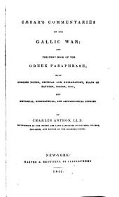 Caesar's Commentaries on the Gallic war: Book 1
