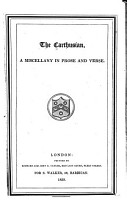 The Carthusian  a Miscellany in Prose and Verse PDF