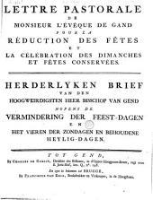 Herderlyken brief van den ... bisschop van Gend nopens de vermindering der feest-dagen en het vieren der zondagen en behoudene heylig-dagen