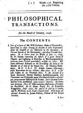 Philosophical Transactions, Giving Some Accompt of the Present Undertakings, Studies and Labors of the Ingenious in Many Considerable Parts of the World: Issues 236-247