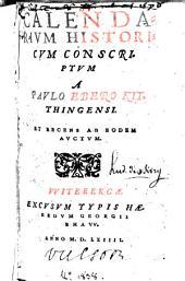 Calendarium historicum