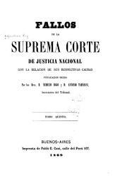 Fallos de la Corte suprema de justicia de la nación: con la relación de sus respectivas causas, Volumen 5