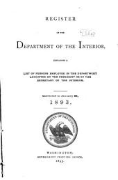 Register of the Department of the Interior: Containing Appointees of the President and of the Secretary of the Interior