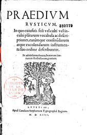 Caroli Stephani Praedium rusticum